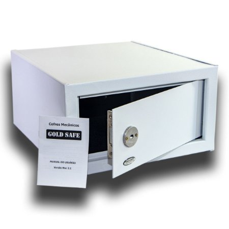 Cofre Mecânico Chave Tetra Slim Gold Safe