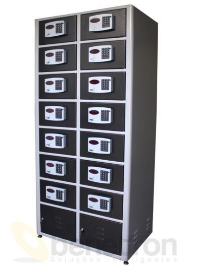 Armário Guarda Volumes Eletrônico 14 Portas