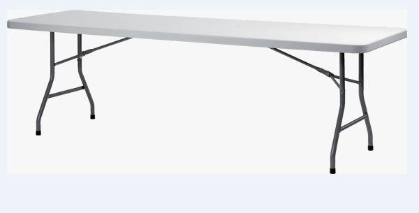 Mesa Retangular Dobrável ao meio 2,44