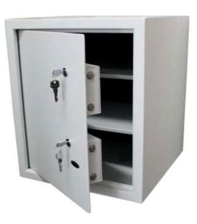 Cofre Chave  Multiponto Company   com duas fechaduras diferentes