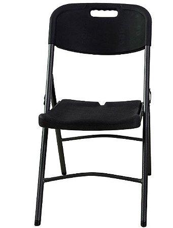 Cadeira Dobravel Pro Cor Preta