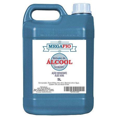 Álcool Gel 70% Galão com 5 Litros Megafio