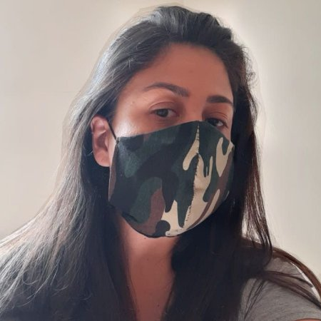 Máscara Tecido Camuflado Não Descartável Pacote c/ 3 un (PRONTA ENTREGA)