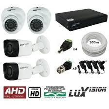Kit 4 Câmera Luxvision Infra Ahd Lente 2,8mm 1mp Ip67    Novo