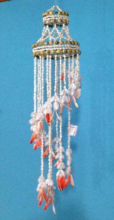 chandelier w/  nassa / red lips 80 cm - unid