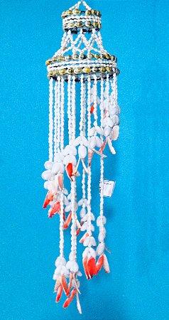 chandelier w/  nassa / red lips 120 cm - unid