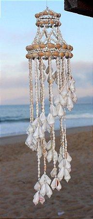 chandelier nassa w/ brown moon shell 180 cm - unid