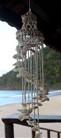chandelier nassa w/ white cockles 160 cm - unid