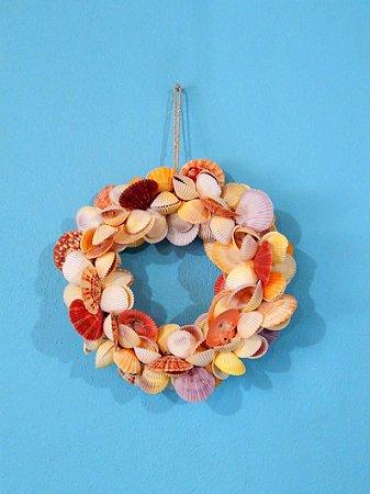 garland ring wreath cockles pecten cl 20 cm - unid
