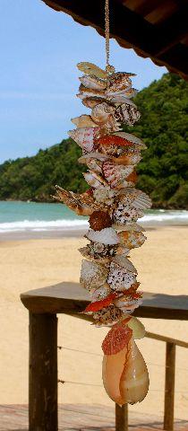 shell garland 53 cm  - unid