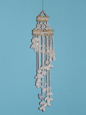 chandelier w/ white moon shell 80 cm - unid