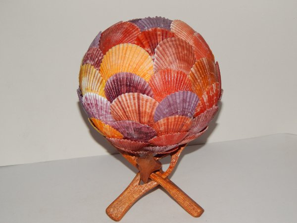 standing ball pecten 15 cm - unid