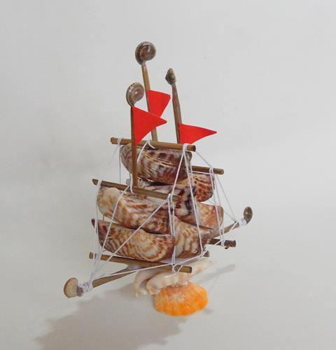 sail boat lente w/ arka shell 15 cm - unid