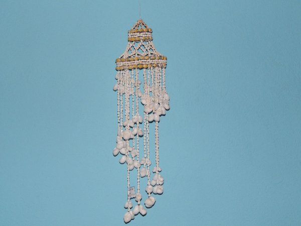 chandelier white moon shel 160 cm - unid