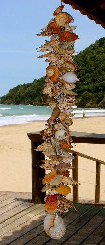 shell garland 140 cm - unid