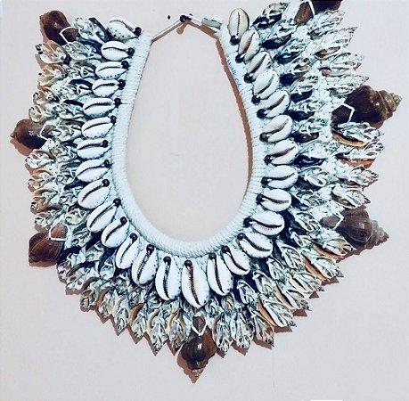necklace cypraea melongina teratta rhin - unid