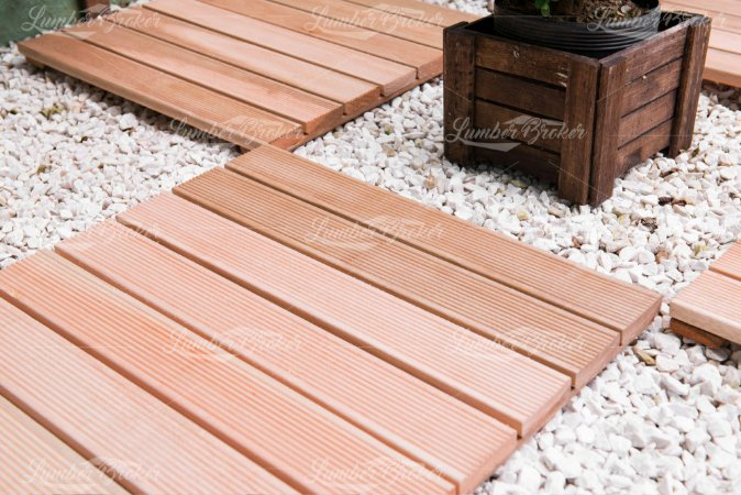 Mini Deck Eucalipto Natural c/ Friso lam7 50x50