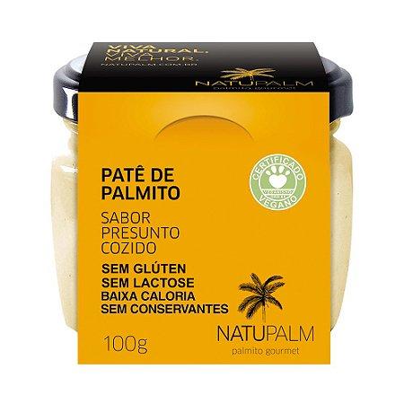 Patê  de Palmito saborizado Presunto NATUPALM 12 unid x 100g