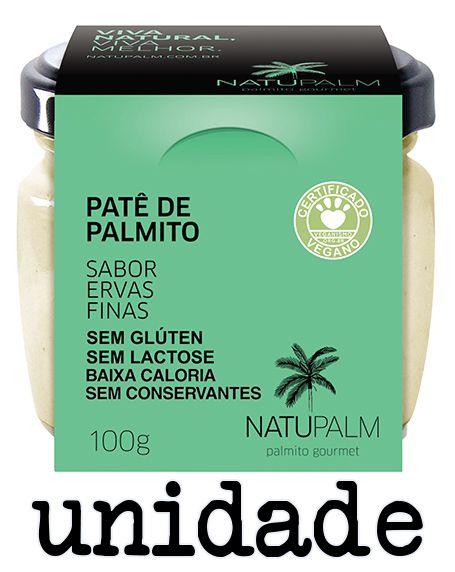 Patê de Palmito saborizado Ervas Finas NATUPALM 100g