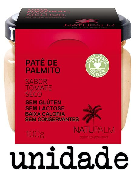 Patê de Palmito saborizado Tomate Seco NATUPALM 100g