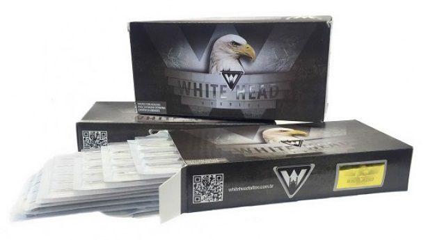 Caixa De Agulhas White Head - Magnum Round - 50 Unidades