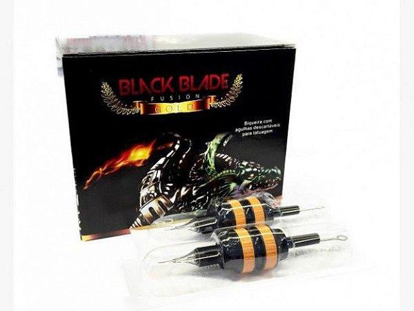 Biqueira Black Blade Gold New Design 25MM C/ Agulha - Traço - 20 Unidades