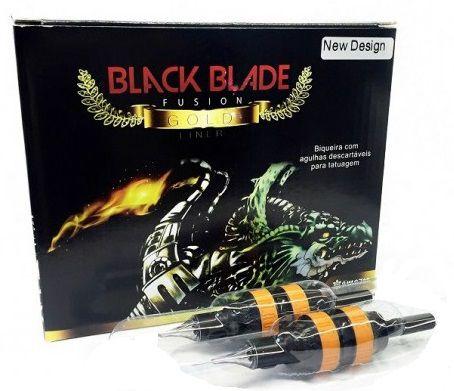 Biqueira Black Blade Gold New Design 30MM - Traço/Bucha - 12 Unidades