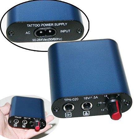 Mini Fonte Importada Plug P10 - Azul