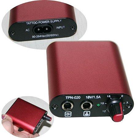 Mini Fonte Importada Plug P10 - Vermelha