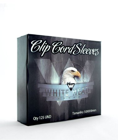 Plástico Protetor de Clip-Cord White Head - 125 Unidades