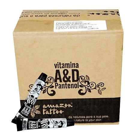 Vitamina AD Pantenol - Creme Cicatrizante Pós Tattoo - Caixa com 40 Unidades