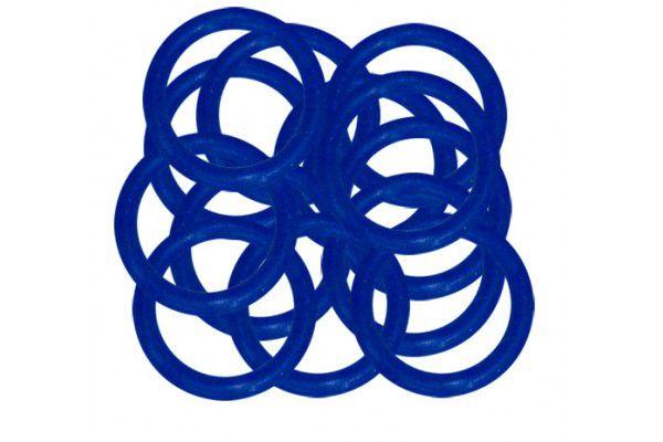 Borracha Oring Premium P/ Molas 10 Unidades - Azul