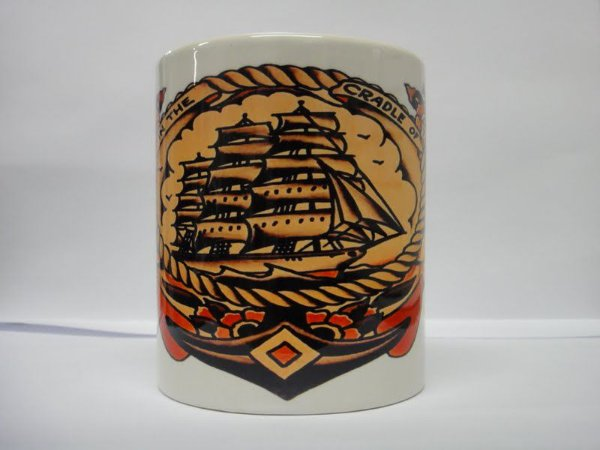 Caneca Porcelana Sailor Jerry - Mod 10