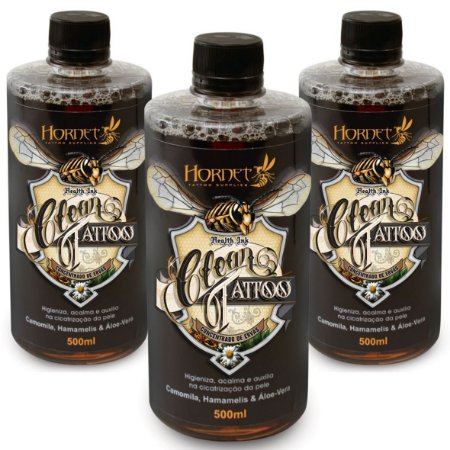 Hornet Clean Tattoo - Concentrado De Ervas 500ML