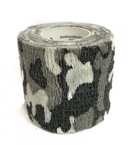Bandagem Fita Adesiva Auto Aderente - Gray Camo