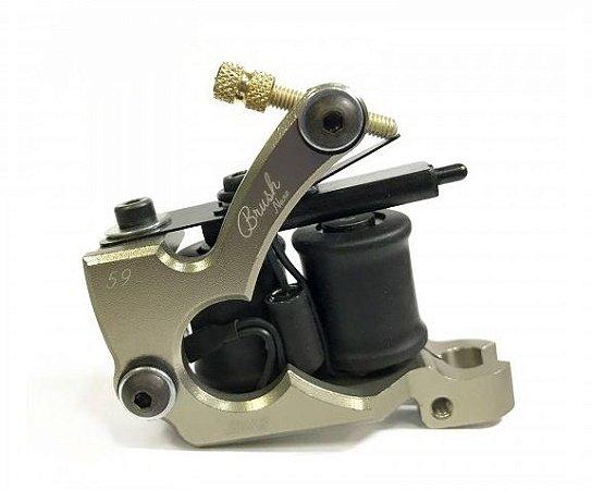 Maquina Lauro Paolini Nano Brush Aluminio - Ouro Velho