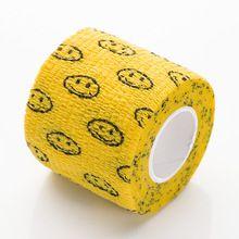 Bandagem Fita Adesiva Auto Aderente - Yellow With Smiley