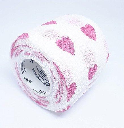 Bandagem Fita Adesiva Auto Aderente - Pink Heart