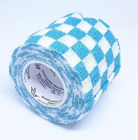 Bandagem Fita Adesiva Auto Aderente - Blue Grid