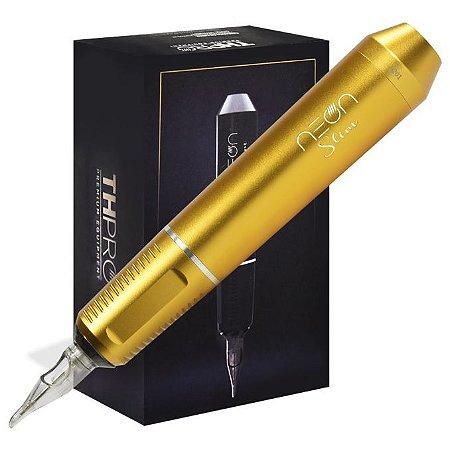 Máquina Rotativa TH Pró Neon Pen Slim - Amarelo Ouro Fosca