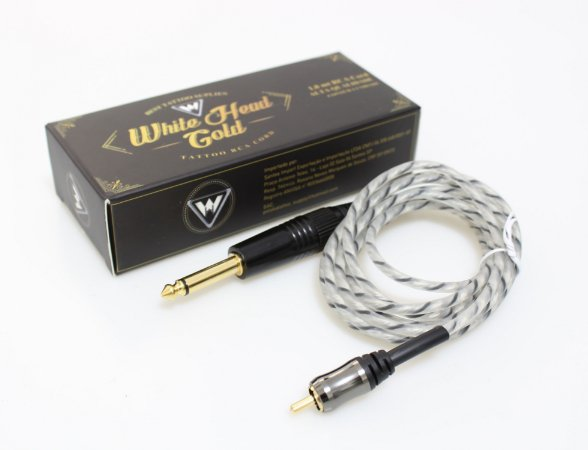 Cabo Rca White Head Gold - Preto