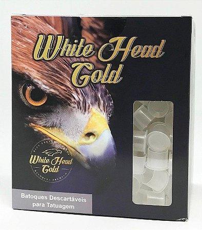 Caixa De Batoques White Head Gold - M 1000 Unidades