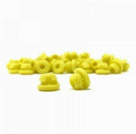 Borracha P/ Batedor Amarela - 10 Unidades