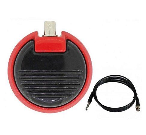 Pedal Metal Round - Vermelho