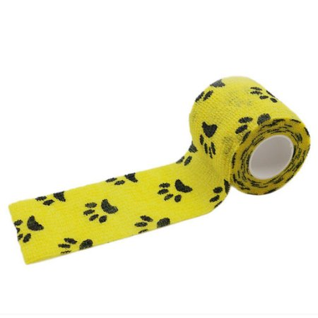 Bandagem Fita Adesiva Auto Aderente - Yellow Paw
