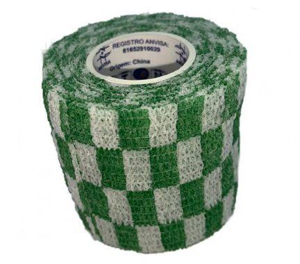 Bandagem Fita Adesiva Auto Aderente - Green Grid
