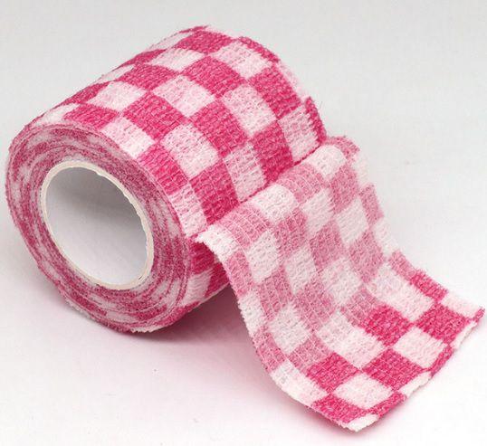 Bandagem Fita Adesiva Auto Aderente - Pink Grid