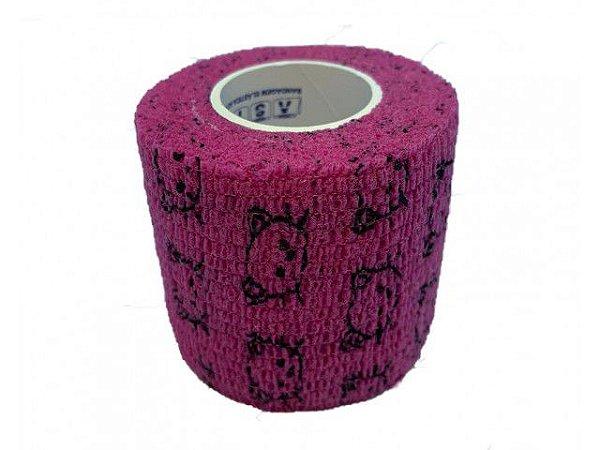 Bandagem Fita Adesiva Auto Aderente - Pink Cats