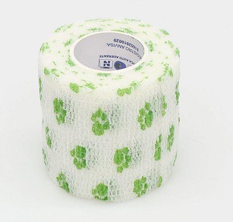 Bandagem Fita Adesiva Auto Aderente - White / Green Paw