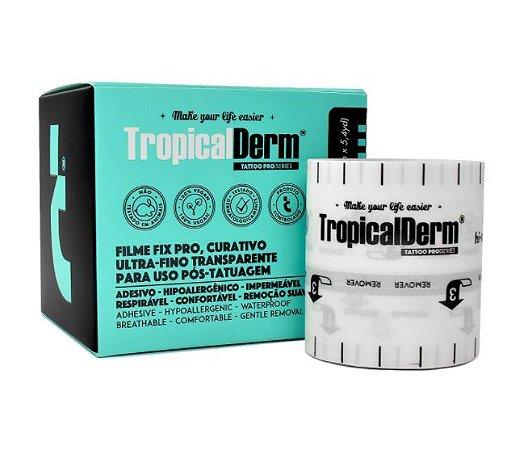 TropicalDerm Filme Protetor P/ Tatuagem Fix Pró 2.0 - Rolo 5 Metros